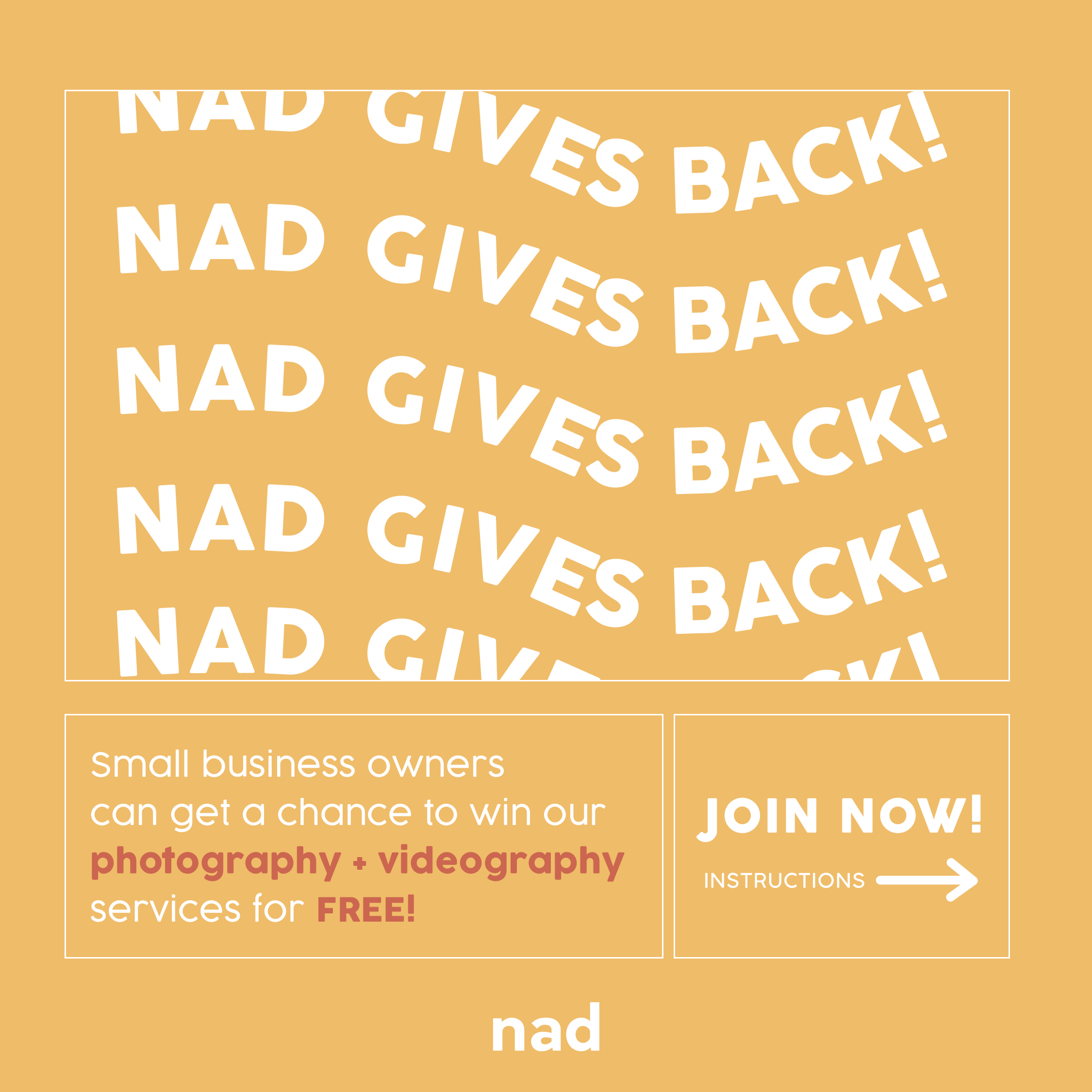 NADGivesBack Instructions